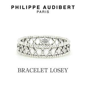 正規品 新作 Philippe Audibert フィリップ オーディベール BRACELET LOSEY シルバーメタル スワロスキー ブレスレット PhilippeAudibert レディース|ssshop