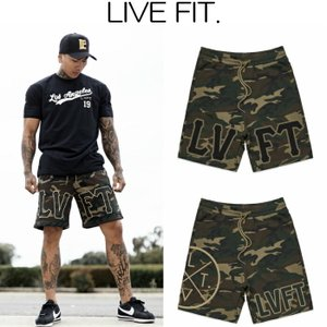 リブフィット LIVE FIT Camo Shorts ショートパンツ ハーフパンツ ショーツ 短パン メンズ 筋トレ ジム ウエア スポーツウェア 正規品[衣類] ssshop