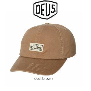 DeusExMachina デウスエクスマキナ キャップ CAS CAP dust brown 帽子 ダストブラウン ブラウン ロゴ 刺繍 コットンキャップ ストラップバック Deus Ex Machina[|ssshop