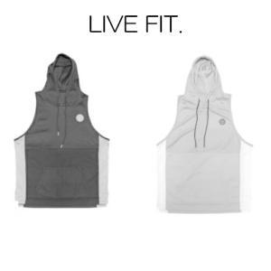 リブフィット LIVE FIT Liberty Cut Off V3 ノースリーブ タンクトップ パーカー メンズ 筋トレ ジム ウエア スポーツウェア 正規品[衣類]|ssshop