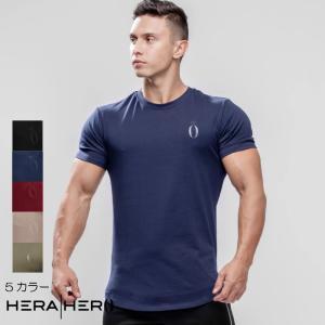 ヘラヒーロー HERA x HERO DLUXX T-SHIRT 半袖 Tシャツ メンズ ジムウェア スポーツウェア 重ね 大きいサイズ 黒 スポーティ 筋トレ[衣類]|ssshop