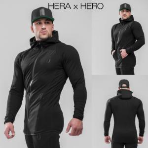 ヘラヒーロー HERA x HERO DLUXX ZIP-UP HOODIE BLACK パーカー スウェット トレーナー メンズ ジムウェア スポーツウェア 大きいサイズ スポーティ 筋トレ[衣類|ssshop