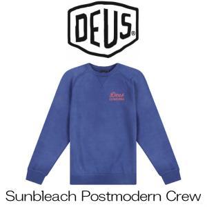 デウスエクスマキナ DeusExMachina Sunbleach Postmodern Crew Dark Blue ダークブルー スウェット クルーネック 長袖 トレーナー  サーフ バイカー Deus Ex Mac|ssshop