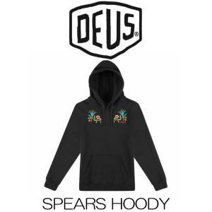 デウスエクスマキナ DeusExMachina Spears Hoody Black ブラック 黒 プルオーバー パーカー ロゴ 長袖 トレーナー サファリ サーフ バイカー|ssshop