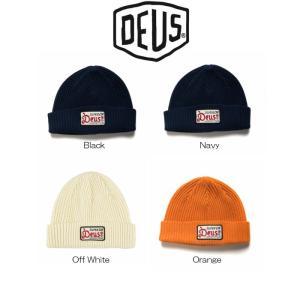 DeusExMachina デウスエクスマキナ OKAY BEANIE ビーニー ニット帽 ニットキャップ 帽子 Black Navy Off White Orange ブラック ネイビー オフホワイト オレンジ|ssshop