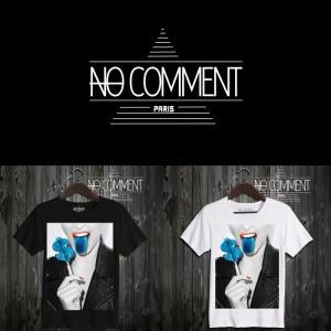 NO COMMENT PARIS ノーコメントパリ 半袖 Tシャツ ブラック ホワイト ラウンドネック Vネック メンズ レディース ドル・ロリポップ dollars lollipop-LTN05|ssshop