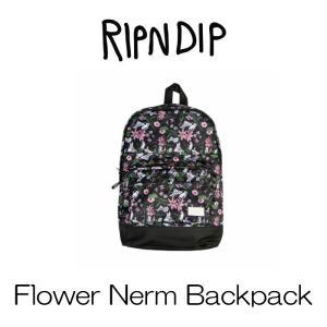 リップンディップ RIPNDIP Flower Nerm Backpack Black ブラック バックパック リュック リュックサック バッグ かわいい ネコ キャット 猫 Rip N Dip ssshop