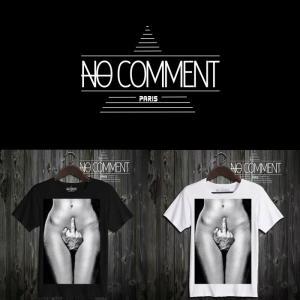 NO COMMENT PARIS ノーコメントパリ 半袖 Tシャツ ブラック ホワイト ラウンドネック Vネック メンズ レディース ファック Fuck-DEST22|ssshop