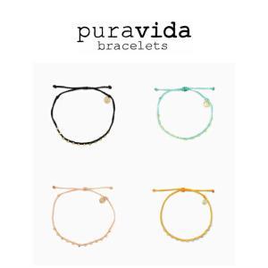 puravida bracelets プラヴィダ アンクレット GOLD STITCHED BEADED ANKLET pura vida メンズ レディース ユニセックス [アクセサリー]|ssshop