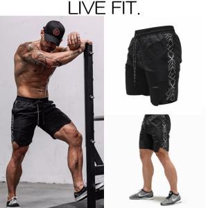 リブフィット LIVE FIT Hyper Active Shorts ショートパンツ ハーフパンツ ショーツ 短パン メンズ 筋トレ ジム ウエア スポーツウェア 正規品[衣類] ssshop