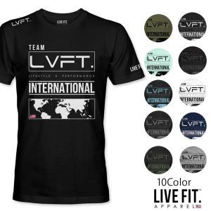 リブフィット LIVE FIT International Tee 半袖 Tシャツ メンズ 筋トレ ジム ウエア スポーツウェア 正規品[衣類]|ssshop