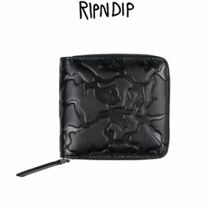 05b5d16b8040 リップンディップ RIPNDIP Jerm Camo Zip Wallet 二つ折り財布 レザー 革 ジップ付き メンズ かわいい ネコ キャット 猫  Rip N Dip