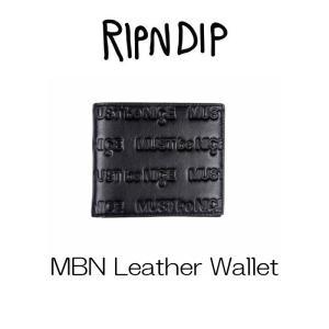 リップンディップ RIPNDIP MBN Leather Wallet  二つ折り財布 レザー 革 メンズ かわいい ネコ キャット 猫 Rip N Dip ssshop
