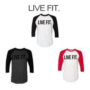 リブフィット LIVE FIT Live Fit. Baseball Raglan 長袖 Tシャツ ラグランスリーブ ロンT メンズ 筋トレ ジム ウエア スポーツウェア 正規品[衣類]|ssshop