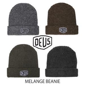 DeusExMachina デウスエクスマキナ ビーニー ニット帽 ニットキャップ 帽子 グレー Gray MELANGE ゴールド Gold MELANGE BEANIE オリーブ Olive MELANGE Deus Ex|ssshop