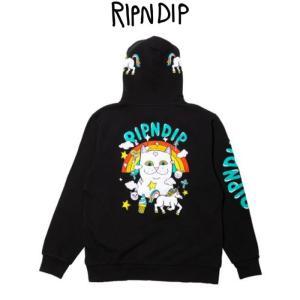 リップンディップ RIPNDIP Nermland Hoodie Black ブラック 黒 パーカー プルオーバー スウェット トレーナー フード付き かわいい ネコ キャット 猫 Rip N Dip ssshop