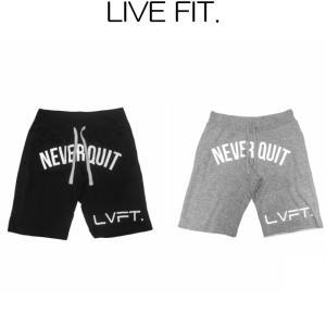 リブフィット LIVE FIT Never Quit Sweat shorts ショートパンツ ハーフパンツ ショーツ 短パン メンズ 筋トレ ジム ウエア スポーツウェア 正規品[衣類] ssshop