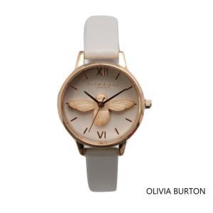 Olivia Burton オリビアバートン レディース アニマルモチーフ 蜂 ブラッシュ&ローズゴールド 腕時計 本革 レザー ウォッチ クオーツ プレゼント 贈|ssshop
