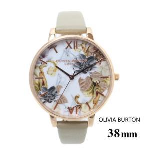 オリビアバートン Olivia Burton レディース 腕時計 38mm マーブル フローラル ビック ダイヤル ウォッチ 本革 レザー ウォッチ クオーツ プレゼント 贈り物 新|ssshop