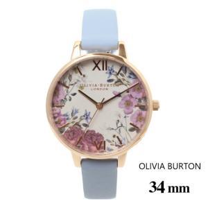 オリビアバートン Olivia Burton レディース 腕時計 34mm ブリティッシュ ブルームス チョーク ブルー & ローズ ゴールド ウォッチ クオーツ プレゼント 贈り物|ssshop