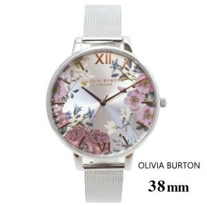 オリビアバートン Olivia Burton ブリティッシュ ブロッサム ブルームス ゴールド & シルバー メッシュ 38mm  腕時計 ステンレスバンド ステンレススチール ウ|ssshop