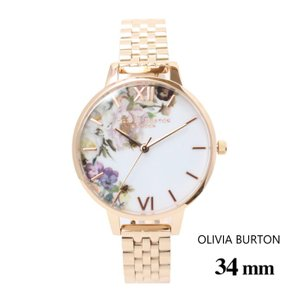 オリビアバートン Olivia Burton レディース エンチャント ガーデン デミ ローズゴールド ブレスレット 34mm  メッシュ 腕時計 ステンレスバンド ステンレススチ|ssshop
