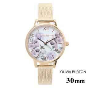 オリビアバートン Olivia Burton エンチャント ガーデン ローズ ゴールド メッシュ 30mm メッシュ 腕時計 ステンレスバンド ステンレススチール ウォッチ|ssshop