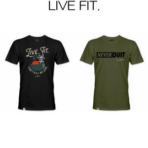 リブフィット LIVE FIT Paradise NQ Motto Tee 半袖 Tシャツ メンズ 筋トレ ジム ウエア スポーツウェア 正規品[衣類]|ssshop