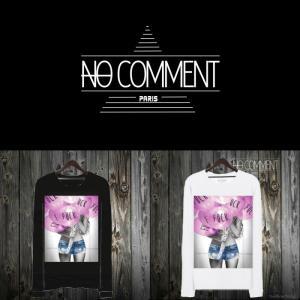 NO COMMENT PARIS ノーコメントパリ 長袖 Tシャツ ブラック ホワイト メンズ 大きい 小さい ピンク・ファック・バルーン pink fuck balloon-LTN24|ssshop
