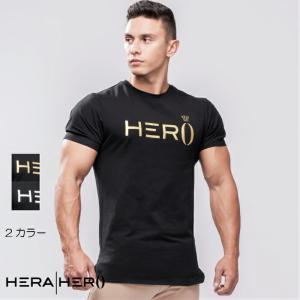 ヘラヒーロー HERA x HERO プリモ T シャツ T-SHIRT 半袖 Tシャツ メンズ ジムウェア スポーツウェア 重ね 大きいサイズ 黒 スポーティ 筋トレ[衣類]|ssshop