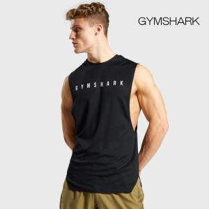 ジムシャーク Gymshark RECHARGE TANK BLACK ノースリーブ タンクトップ ...