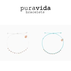 puravida bracelets プラヴィダ アンクレット ROSE GOLD STITCHED BEADED ANKLET pura vida メンズ レディース ユニセックス [アクセサリー]|ssshop