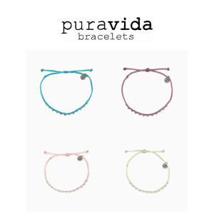 puravida bracelets プラヴィダ アンクレット SILVER STITCHED BEADED ANKLET pura vida メンズ レディース ユニセックス [アクセサリー]|ssshop