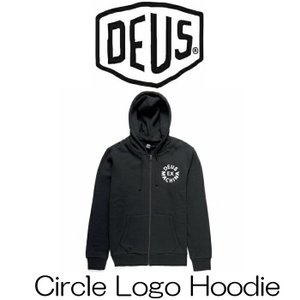 デウスエクスマキナ DeusExMachina Circle Logo Hoodie Black ブラック 黒 プルオーバー パーカー ロゴ 長袖 トレーナー サファリ サーフ バイカー|ssshop