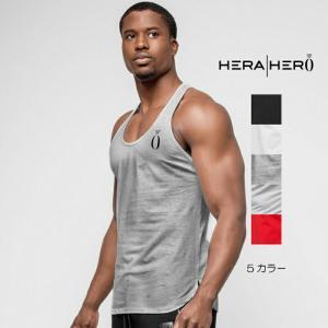 ヘラヒーロー HERA x HERO TRI STRINGER ストリンガータンク ノースリーブ タンクトップ メンズ ジムウェア スポーツウェア 重ね 大きいサイズ 黒 白 スポーティ|ssshop
