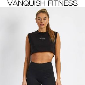 ヴァンキッシュ フィットネス VANQUISH FITNESS MINIMAL BLACK CROP TOP タンクトップ レディース ヨガ yoga 筋トレ ジム ウエア スポーツウェア ヨガウェア イ|ssshop