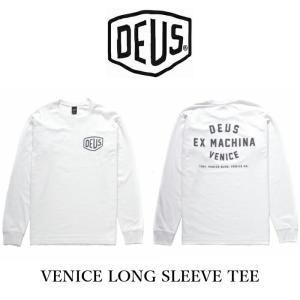 DeusExMachina デウスエクスマキナ プリント 長袖 Tシャツ ロンT ロゴT プリント バックプリント VENICE LONG SLEEVE TEE ホワイト 白 メンズ ssshop