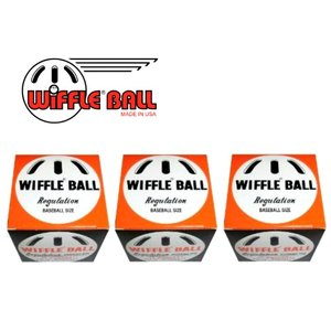 ウィッフルボール3個 WIFFLE ball 箱入 米国正規品