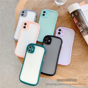 スマホケース iPhone11 ケース 携帯カバー カバー 半透明 クリア 韓国風 おしゃれ 海外風 ファッション 流行 ワイヤレス充電器対応 スマホ【sssnetshop】|sssnetshop
