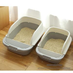 猫トイレ トイレ 猫用品 ダブル脱臭 砂の飛び散り防止 出入り方法2種 掃除しやすい スコップ付き 大容量 優れた耐久性 猫用トイレ本体 清潔トイレ【sssnetshop】|sssnetshop