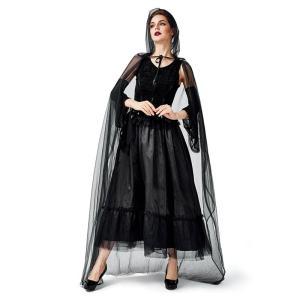 Halloween 仮装 魔女 ワンピース 肩出し コスチューム 暗黒 コスプレ キャラクター デビル  大人用  ハロウィン ロングドレス  舞台  パーティー用 sssnetshop