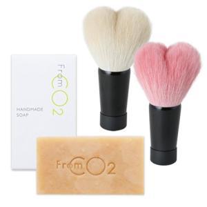 フロムCO2 ハンドメイドソープ&熊野筆 洗顔ブラシセット|st-couleur