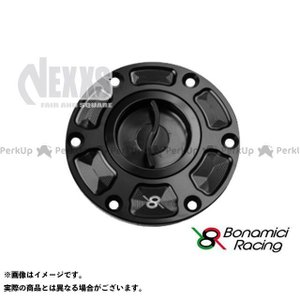 【無料雑誌付き】Bonamici Racing タンク関連パーツ TANK CAPS(ブラック/ブラック) ボナミーチレーシング st-ride