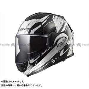 エルエスツー システムヘルメット(フリップアップ) VALIANT(ブラック/ホワイト/クローム) S 送料無料 LS2 HELMETS|st-ride