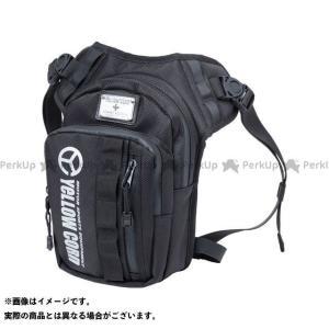 【無料雑誌付き】YeLLOW CORN ツーリング用バッグ YE-56 WPレッグバッグ(ブラック)...