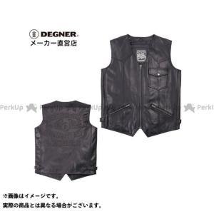 【無料雑誌付き】DEGNER ジャケット 【特価品】V-17 レザーベスト(ブラック) サイズ:M デグナー|st-ride