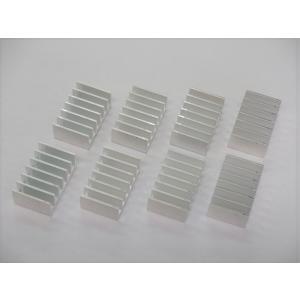 ヒートシンク (小) 8個セット 32mm×20mm×12mm 熱伝導両面粘着テープ付き