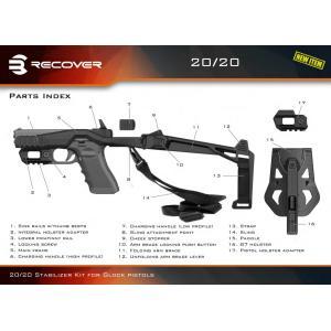 リカバータクティカル グロック用 スタビライザーキットセットBK 20/20H  Recover Tactical GLOCK|stad