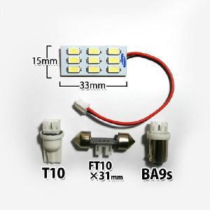 ほとんどの車種に取り付け可能◎爆光!超高輝度9連LEDルームランプ/サムスン社製高品質LEDチップ搭載!9SMDホワイト|stakeholder|03