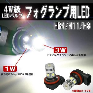 フォグランプ超高輝度LEDバルブ/H11(H8/H16)・HB4/6500Kホワイト//2個セット|stakeholder